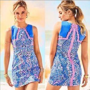 Lilly Pullitzer Mila Shift Dress in Sandbar Dobby
